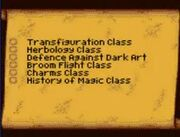 Class list contents