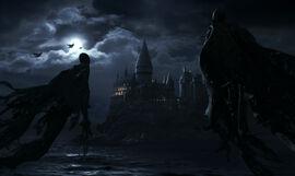 Dementorzy pilnujacy Hogwartu
