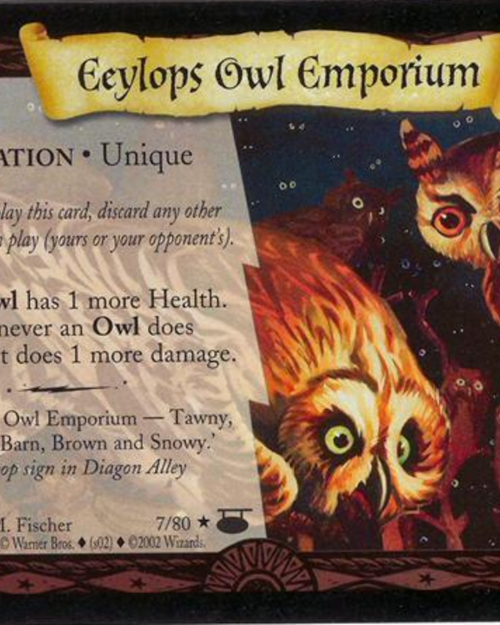 Harry Potter Eeylops Owl Emporium Diagon Alley Kit