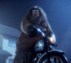 Hagrid na motorze Syriusza