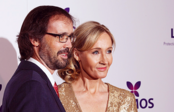 JK Rowling and her husband at the Lumos Fundraising Event