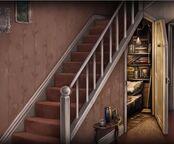 Чулан под лестницей свет вкл