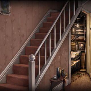 Чулан под лестницей. Арт.