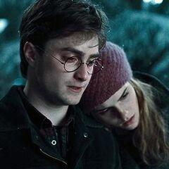 Гарри и Гермиона на кладбище в Годриковой впадине