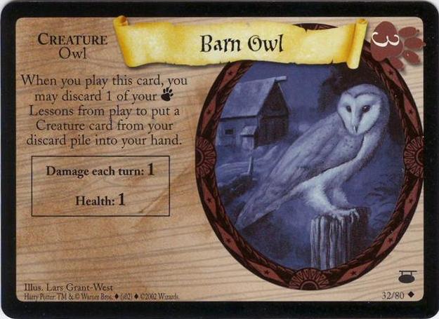 barn owl trading card harry potter wiki fandom powered by wikia