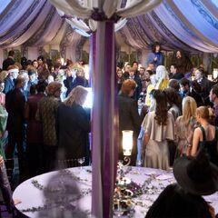 Съёмки эпизода с Патронусом Кингсли на свадьбе Билла и Флёр