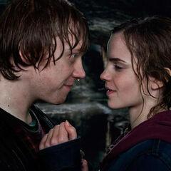 Рон и Гермиона после поцелуя