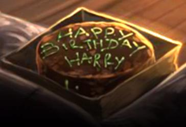 Harry Potters Birthday Cake From Rubeus Hagrid