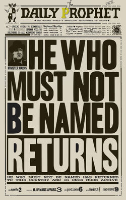 He who must be not be named returns