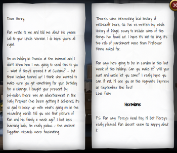 Hermione Granger s letter to Harry Potter 1993