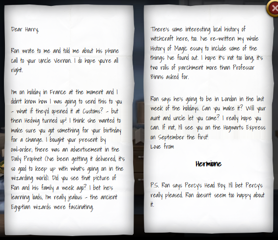 hermione grangers letter to harry potter 1993 harry