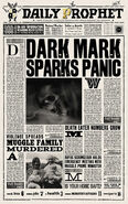 MinaLima Store - The Daily Prophet - Dark Mark Sparks Panic