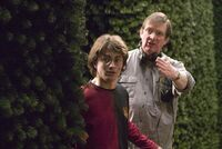 HP4 backstage Mike Newell et Daniel Radcliffe