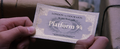 Harry Potter, Holding His Hogwarts Express Ticket.png