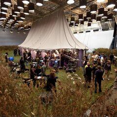 Декорации «Норы» в съёмочном павильоне