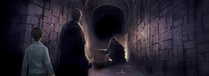 PM-Moment B2C13 HogwartsHarryPotterSeeingTomRiddlesMemoriesWithHagrid