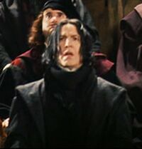 Snape Jinxing Quirrell