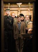 Гарри в лифте Министерства