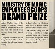Daily Prophet - Ministry Employee Scoops Grand Prize