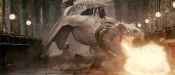 Dragon attack Gringotts
