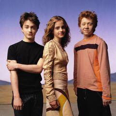 Дэн, Эмма и Руперт для «Vanity Fair»