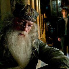 Альбус Дамблдор разговаривает с Гарри