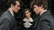 Leta with Theseus and Newt
