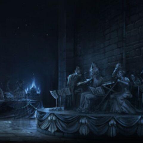 Оркестр играющий на Юбилее Николаса