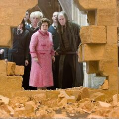 Съёмка сцены взрыва двери Выручай-комнаты