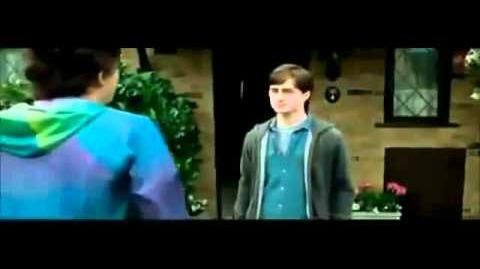 Harry Potter And The Deathly Hallows Part 1 Deleted Scene, Harry and Dudley Handshake
