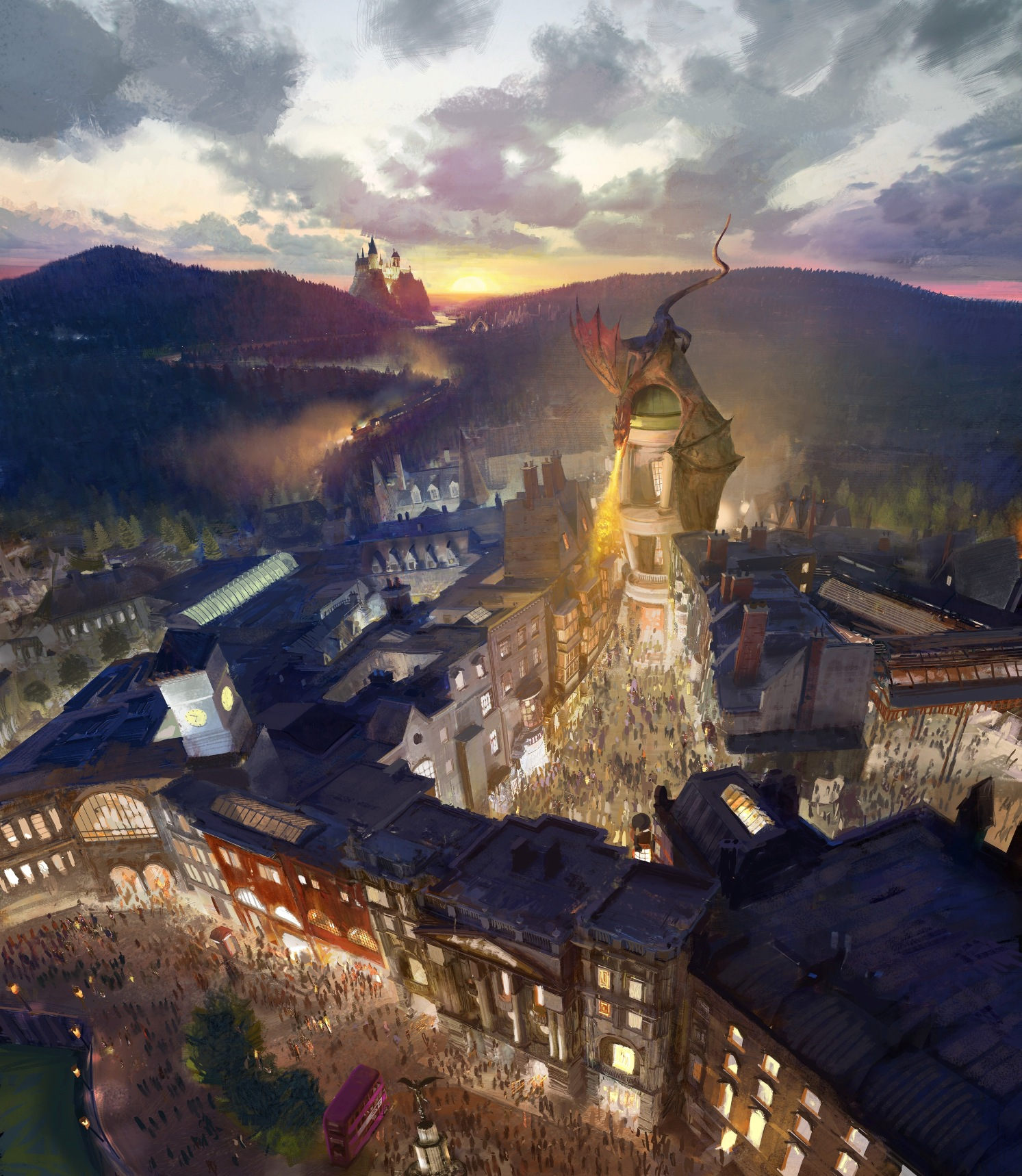 The Wizarding World of Harry Potter - Diagon Alley RenderingLR