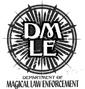 Logotipo do Departamento de Execução das Leis da Magia