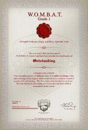 WOMBAT test1 certyfikat