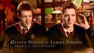 Oliver Phelps and James Phelps (George and Fred Weasley) HP6