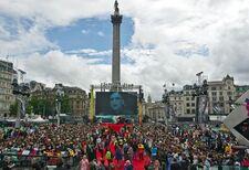 Trafalgar Square premiere
