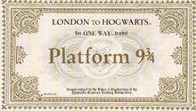 Hogwart Express Ticket