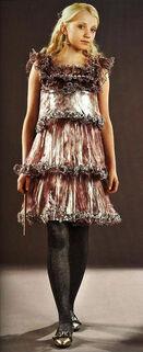 Серебристое платье Полумны