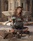 Hermione brewing Polyjuice Potion