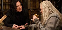 Snape and Dumledore curse