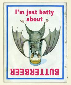 Barny the Fruitbat in Butterbeer advert