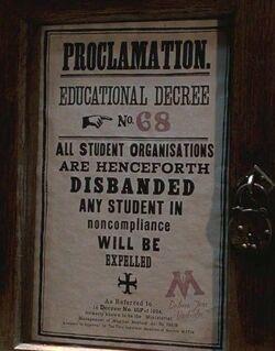 Décret d'éducation numéro 68