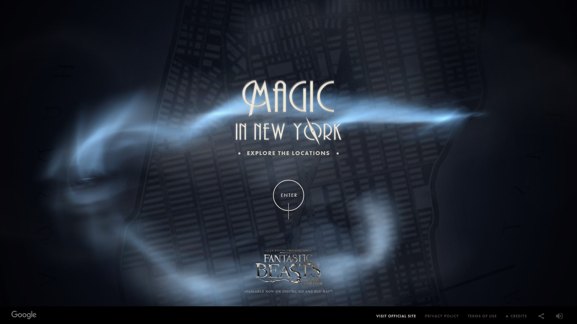 Magical maps fantastic beasts and where to find them harry as for the release of the first of five fantastic beasts movies google in a promotional campaign created a website called magical maps in which you can gumiabroncs Gallery