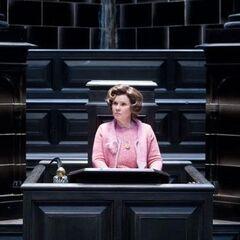 Долорес Амбридж в зале суда