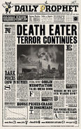 MinaLima Store - The Daily Prophet - Death Eater Terror Continues