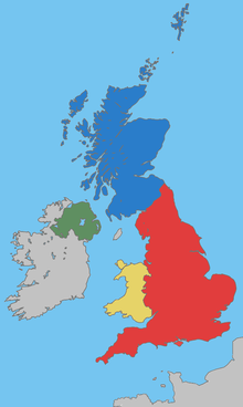 Uk map home nations