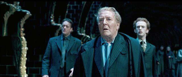 File:Auror Dawlish, Cornelius Fudge and Percy Weasley.JPG