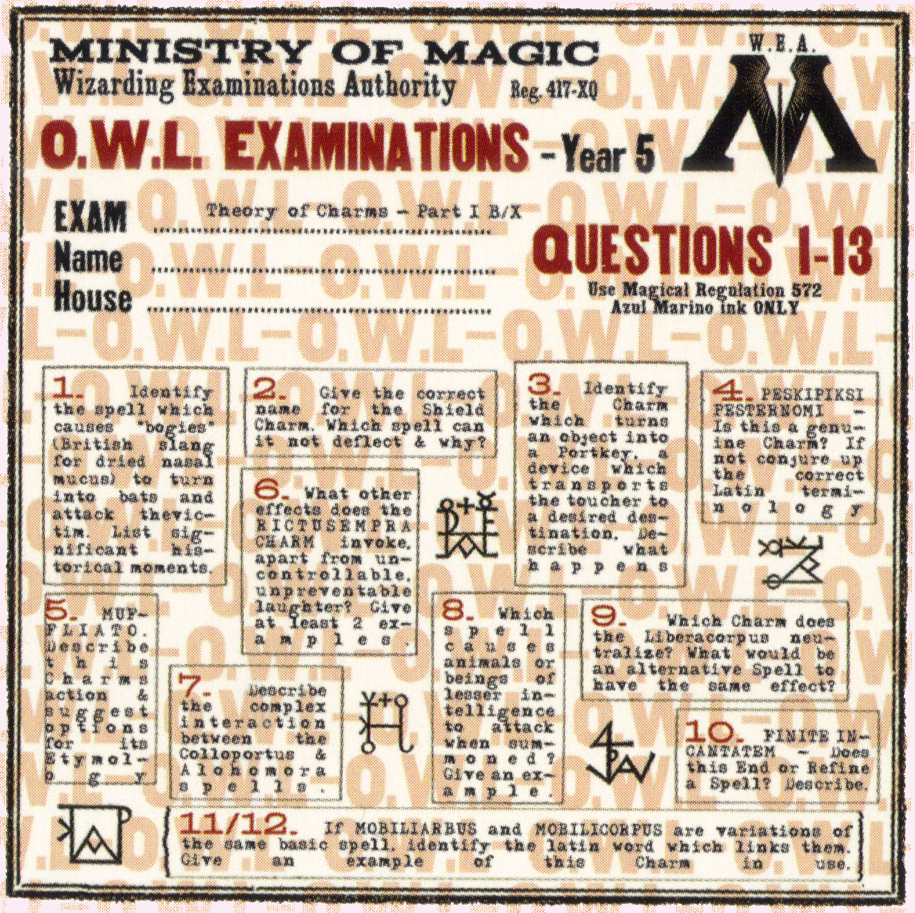 Image owl exam paperg harry potter wiki fandom powered by wikia owl exam paperg malvernweather Images