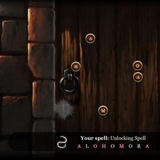 Заклинание алохомора на pottermore