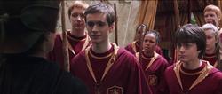 McGonagall et l'équipe de Quidditch de Gryffondor