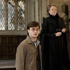 Гарри и Макгонагалл в Большом зале